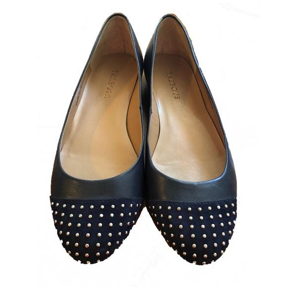 Talbots Schuhes   Studded Ballet Flats Navy Blau    Blau Poshmark 38dfb8